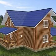 Дом двухэтажный с верандой крекшино