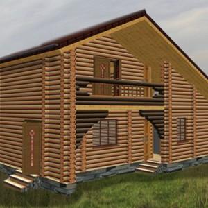 дом-баня двухэтажная с балконом енисей