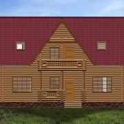 дом двухэтажый с балконом игорь - фасад