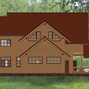 коттедж деревяннй светлана - фасад