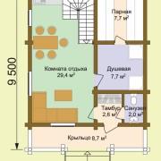 Дом-баня гавриил - план
