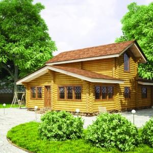 Дом баня с мансардой видное