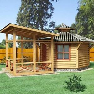 Дачный домик-баня «Оригинальная»