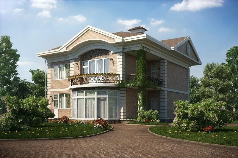 Дома с балконом