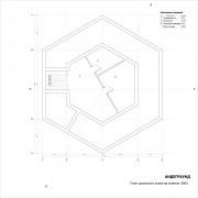 Дом андеграунд - план 1 этажа