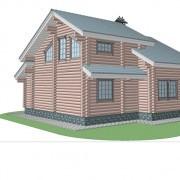 дом с мансардой бьюти - фасад2
