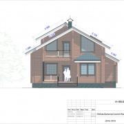 проект дома с мансардой бьюти  - фасад
