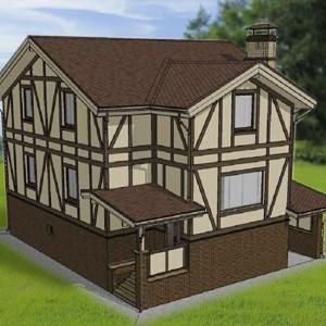 Дом с мансардой «Европейский»