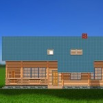 Дом двухэтажный незабудка -фасад