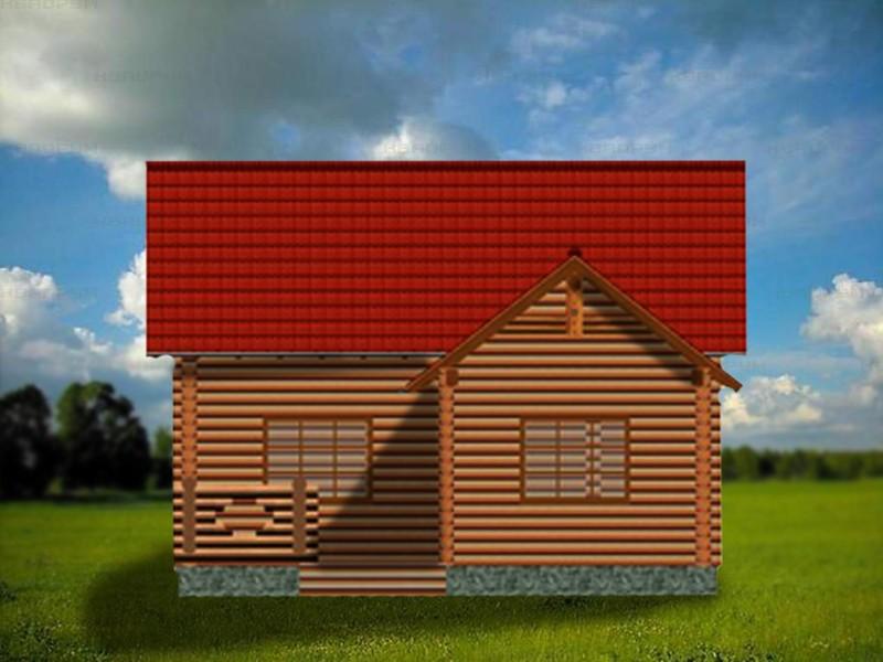 Дом-дача с мансардой вязьма - фасад