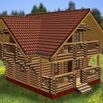 Дом двухэтажный с балконом Воевода курск