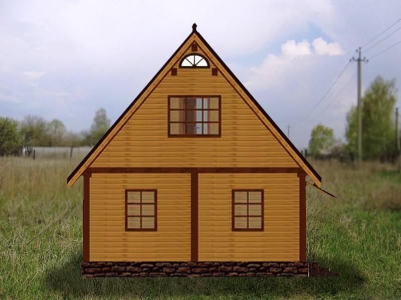 Дом одноэтажный простой валентина - фасад
