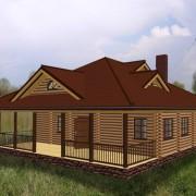 Дом одноэтажный террасой