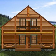 дом с мансардой гармония - фасад
