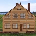 дом с мансардой и балконом залима - фасад