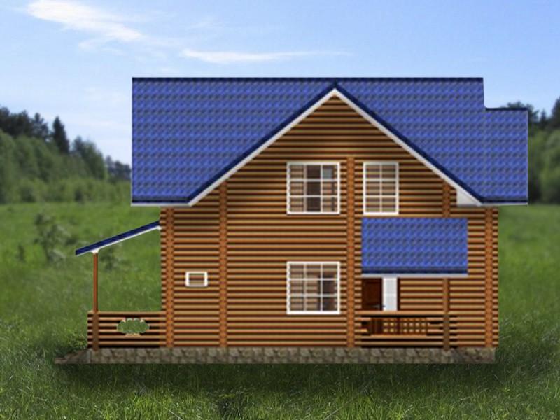Дом двухэтажный с верандой крекшино - фасад