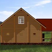 дом-баня с бассейном - фасад