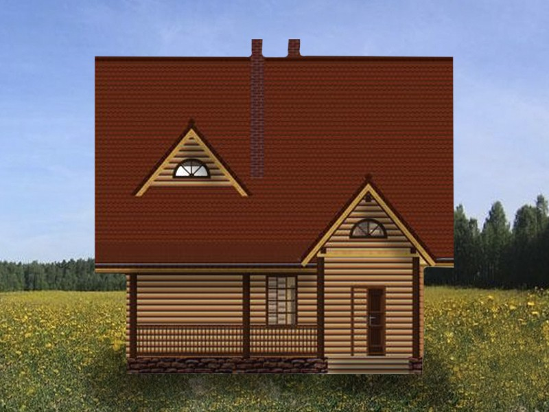 дом-баня немига - фасад