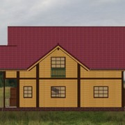 дом одноэтажный альбина - фасад