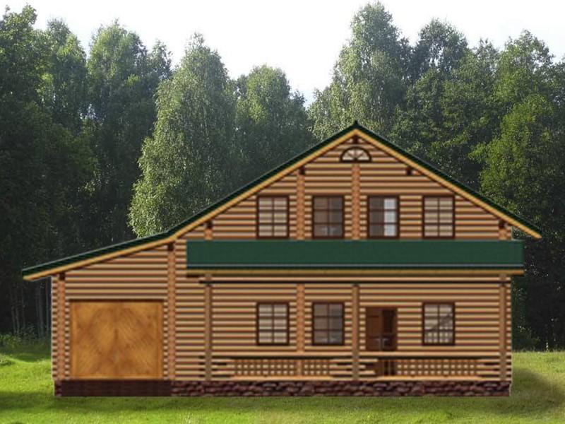 дом с гаражом - фасад
