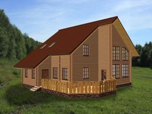 двухэтажный дом с верандой анастасия - план
