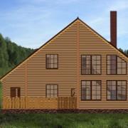 двухэтажный дом с верандой анастасия - фасад