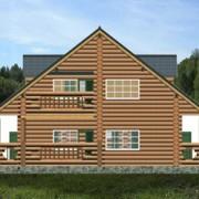 дом с мансардой ольга - фасад