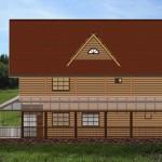 дом двухэтажный лариса - фасад