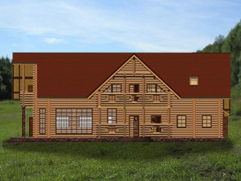 коттедж деревяннй елена - фасад