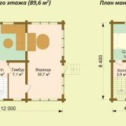 Дом-баня видное - план