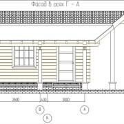 Проект бани «Лесной городок»