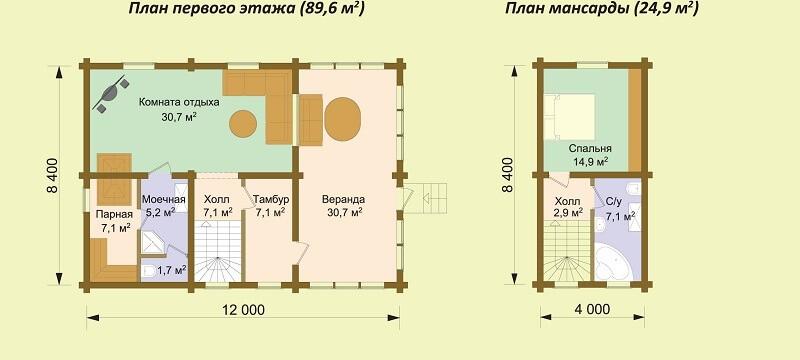 Дом-баня «Видное» (проект)