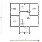 дом двухэтажый с балконом игорь - 2 этаж