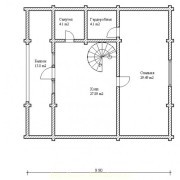 дом с мансардой гармония - 2 этаж