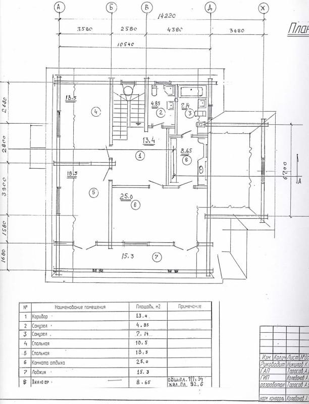 дом василиса - план 2 этажа
