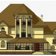 Дом двухэтажный - эскиз
