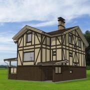 Дом с мансардой «Европейский» - общий вид