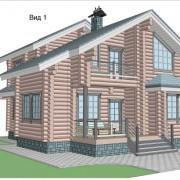 дом с мансардой бьюти - фасад