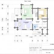 дом с мансардой бьюти - план 1 этажа