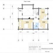 дом с мансардой бьюти - план 2 этажа