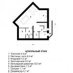 Дом с мансардой «Эйфория» - цоколь